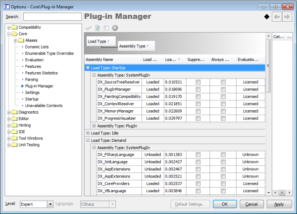 IDETools PlugIn Manager options page