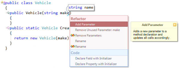 Refactor! Add Parameter preview