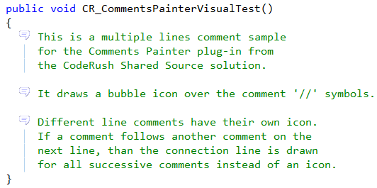 CodeRush Comment Painter preview