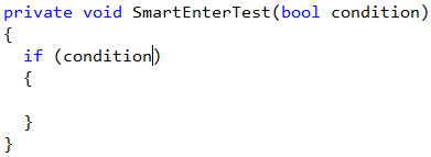 CodeRush Smart Enter test