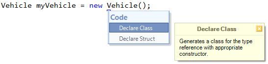CodeRush Declare Class
